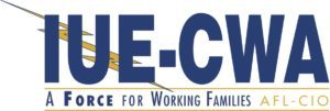 IUE-CWA A Force for Working Families ALF-CIO logo