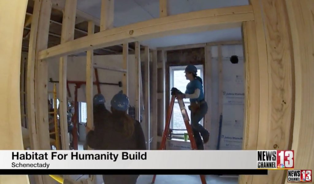 habitat for humanity home under construction