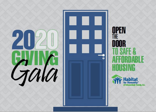 2020 giving gala logo and door image
