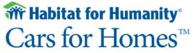 habitat for humanity logo that says cars for homes